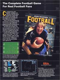 Advert for John Madden Football on the Commodore 64.