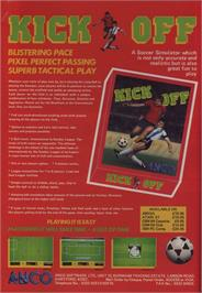Advert for Kick Off on the Commodore 64.