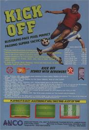 Advert for Kick Off 2 on the Commodore 64.