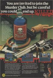 Advert for Killed Until Dead on the Commodore 64.