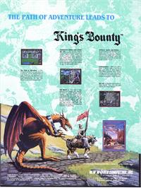 Advert for King's Bounty on the Sega Nomad.