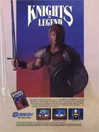 Advert for Knights of Legend on the Commodore 64.