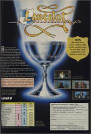 Advert for Lancelot on the Commodore 64.