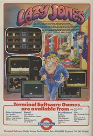 Advert for Lazy Jones on the Commodore 64.