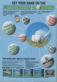 Advert for Leader Board on the Atari ST.