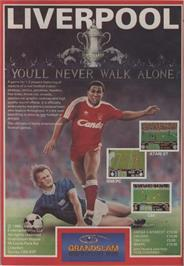 Advert for Liverpool: the Computer Game on the Commodore 64.