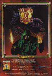 Advert for Lords of Chaos on the Commodore 64.