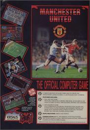 Advert for Manchester United on the Commodore 64.