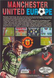 Advert for Manchester United Europe on the Commodore Amiga.