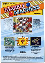 Advert for Marble Madness on the Commodore 64.