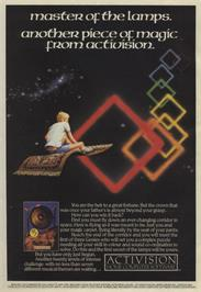 Advert for Master of the Lamps on the Commodore 64.