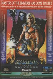 Advert for Masters of the Universe: The Arcade Game on the Commodore 64.