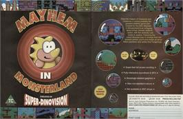Advert for Mayhem in Monsterland on the Commodore 64.