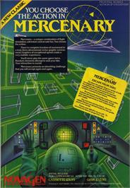 Advert for Mercenary: Escape From Targ with the Second City on the Commodore 64.