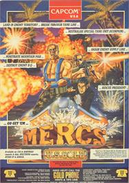 Advert for Mercs on the Commodore 64.