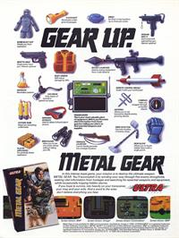 Advert for Metal Gear on the Microsoft DOS.