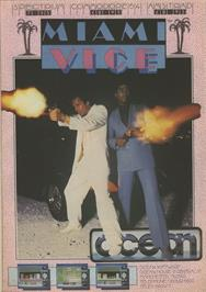 Advert for Miami Vice on the Commodore 64.