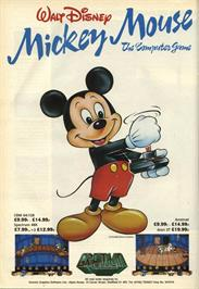 Advert for Mickey Mouse: The Computer Game on the Commodore 64.