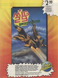 Advert for Mig-29 Soviet Fighter on the Commodore 64.