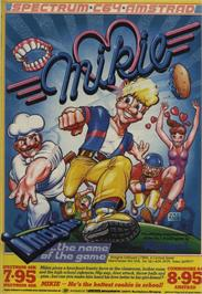 Advert for Mikie on the Amstrad CPC.