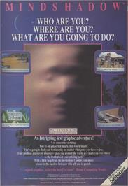 Advert for Mindshadow on the Commodore Amiga.