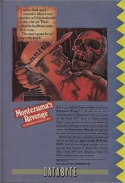 Advert for Montezuma's Revenge on the Atari 5200.