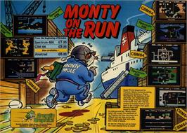 Advert for Monty on the Run on the Commodore 64.