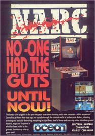 Advert for NARC on the Commodore 64.