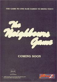 Advert for Neighbours on the Commodore 64.