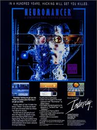 Advert for Neuromancer on the Microsoft DOS.