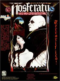 Advert for Nosferatu the Vampyre on the Commodore 64.