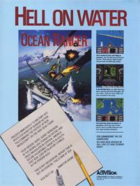 Advert for Ocean Ranger on the Commodore 64.