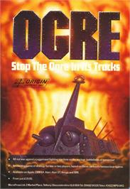 Advert for Ogre on the MSX.