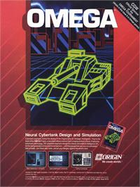 Advert for Omega on the Commodore 64.