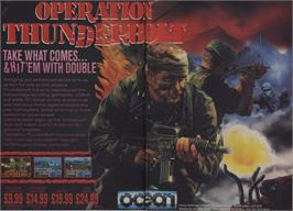 Advert for Operation Thunderbolt on the Commodore 64.