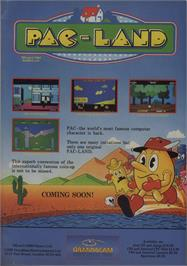 Advert for Pac-Land on the Commodore 64.