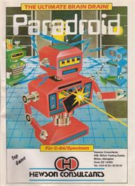 Advert for Paradroid on the Commodore 64.