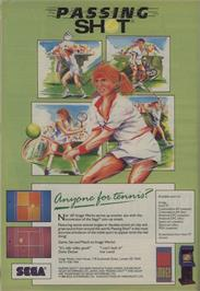 Advert for Passing Shot on the Commodore 64.
