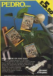 Advert for Pedro on the Commodore 64.