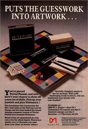 Advert for Pictionary on the Commodore 64.