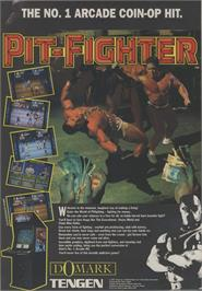 Advert for Pit-Fighter on the Atari Lynx.