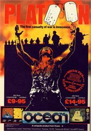 Advert for Platoon on the Commodore 64.