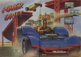 Advert for Power Drift on the Commodore 64.