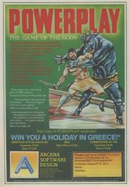Advert for Powerplay: The Game of the Gods on the Atari ST.