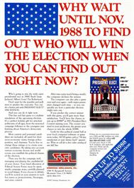 Advert for President Elect: 1988 Edition on the Atari ST.