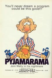 Advert for Pyjamarama on the Commodore 64.