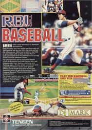 Advert for RBI 2 Baseball on the Commodore 64.