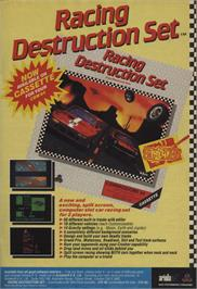 Advert for Racing Destruction Set on the Commodore 64.