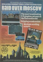 Advert for Raid Over Moscow on the Commodore 64.