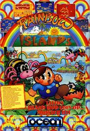 Advert for Rainbow Islands on the Commodore 64.